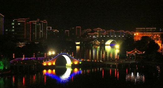 【东莞】沙田河景观照明工程