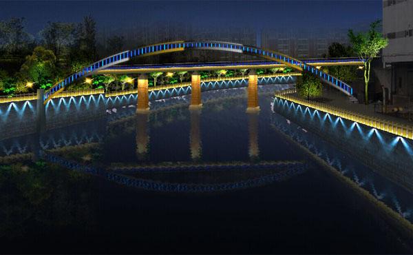 【六安】跨河小桥洗墙灯亮化工程