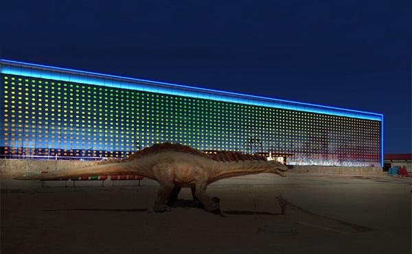 【贵州】恐龙乐圆游泳馆外墙亮化