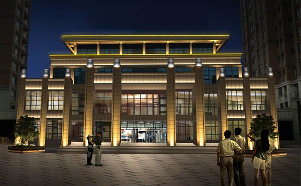 【江西】湖景湾售楼中心线条灯亮化