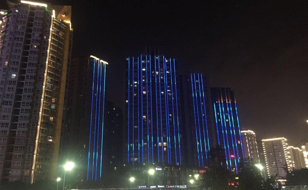 【贵州】河岸小区线条灯亮化