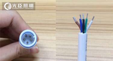 RGB线型灯的五芯线分别代表了什么?