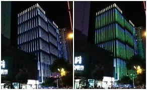 玻璃幕墙大厦亮化,DMX512线条灯做出满意效果