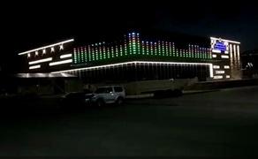 哈萨克斯坦DMX512全彩点光源亮化项目顺利亮灯