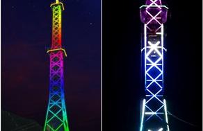 铁塔亮化怎么做?光臣LED全彩护栏管应用