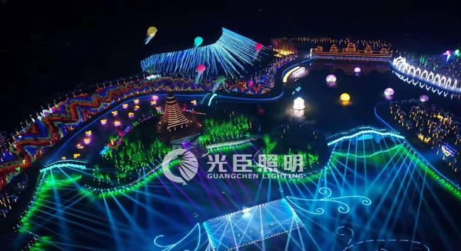 广东光臣LED洗墙灯厂家,助力贵州黎平县萨玛公园灯光秀