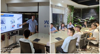 光臣企业内部多元化产品培训,只为更好的服务客户