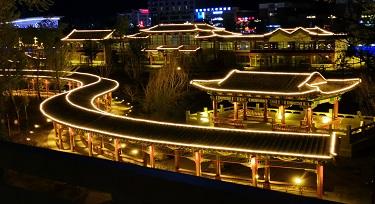 光臣DMX512双色线条灯 河畔公园亮化应用效果分享