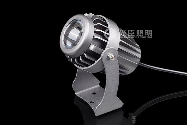 10W科税 LED窄光束投光灯暗灰色